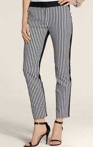 Chico's Striped Black & White Skimmer Crop Pants